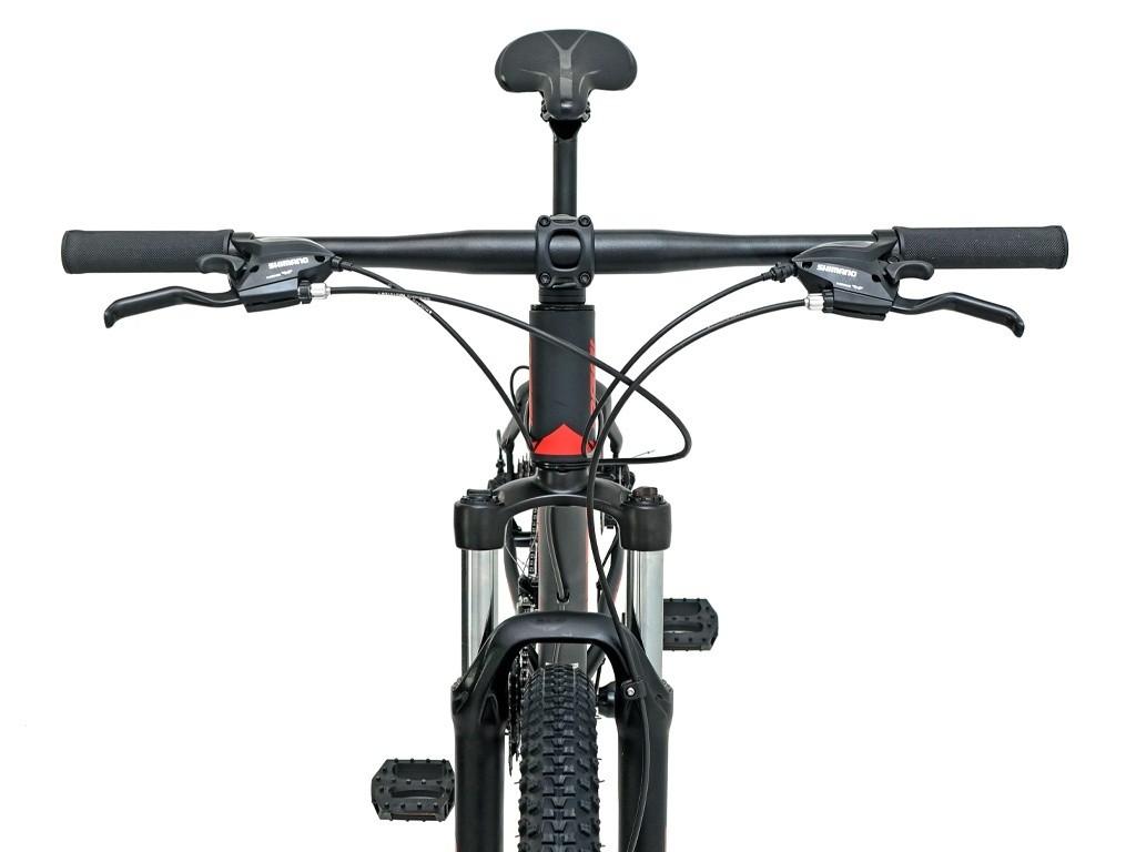 Bicicleta OGGI Hacker Sport - 21v Shimano Tourney - Freio a Disco - Preto/Vermelho