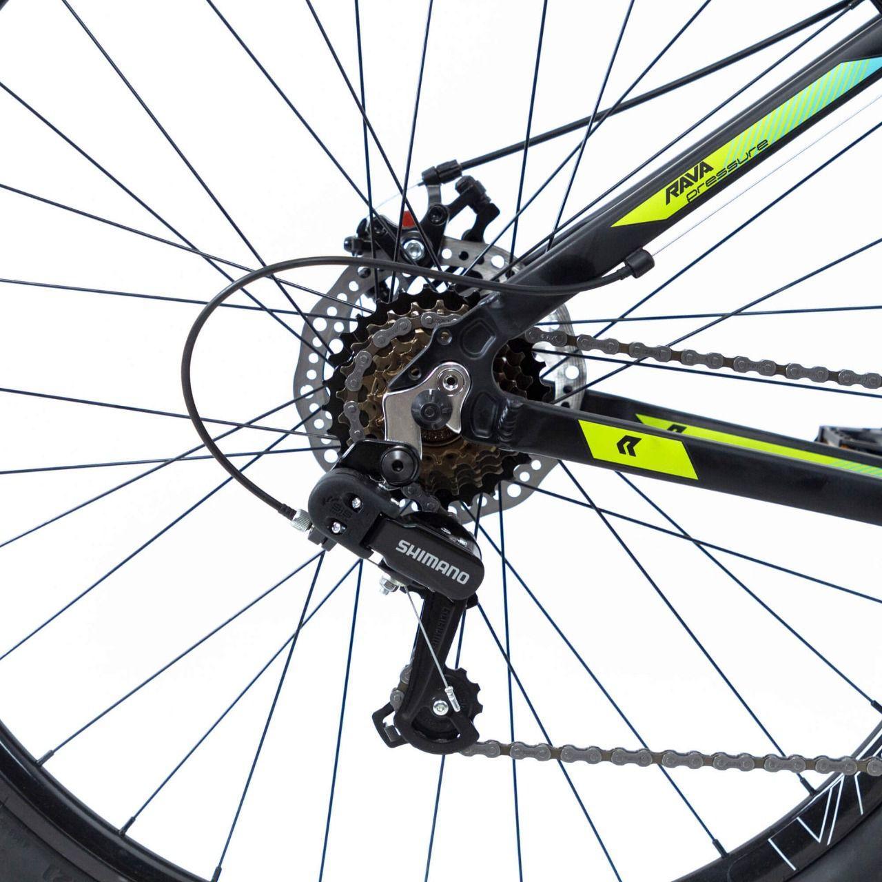 Bicicleta RAVA Pressure aro 29 - 21v Shimano SIS traseiro - Freio a Disco - Preto/Verde/Azul