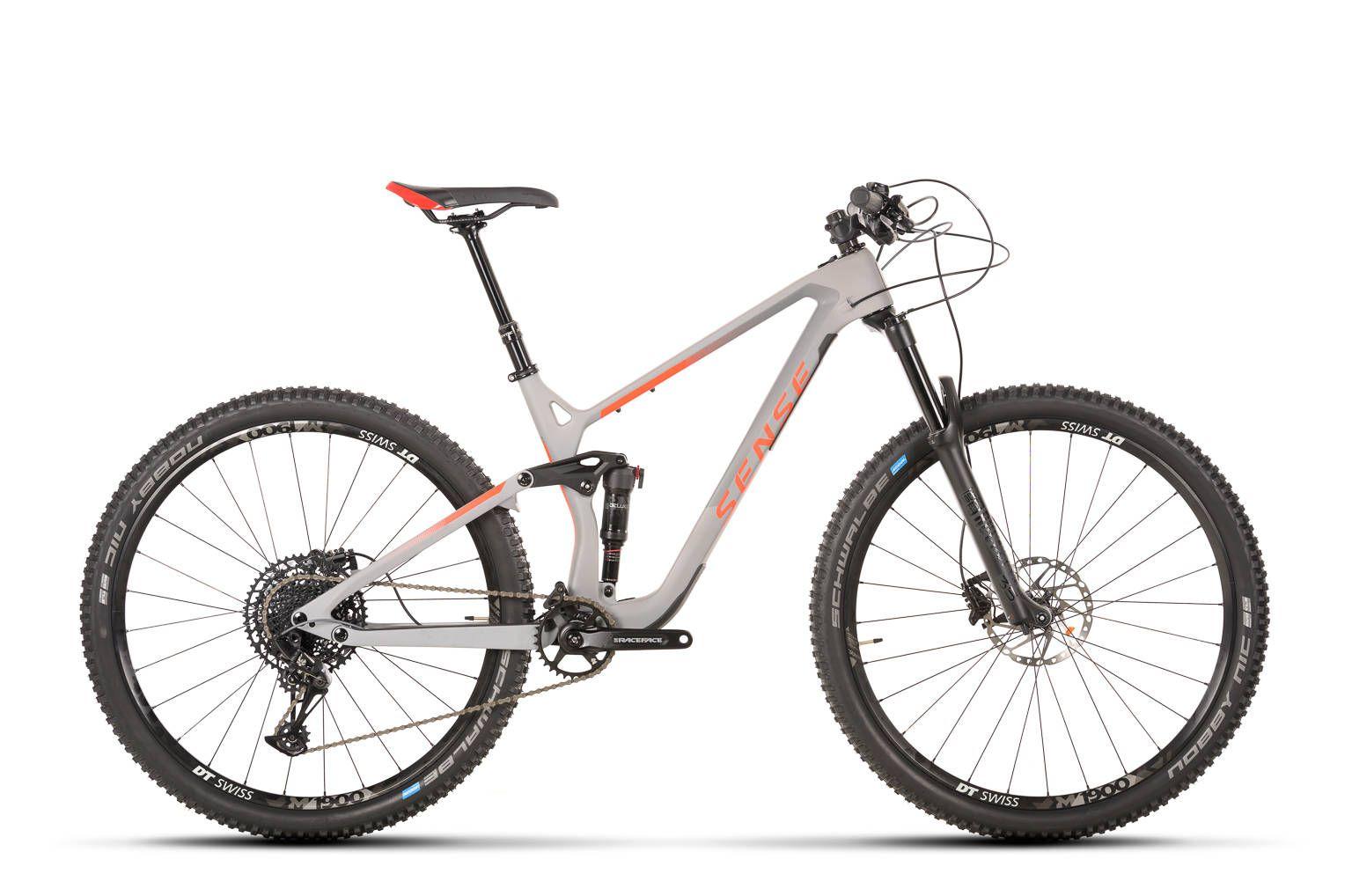 Bicicleta SENSE Exalt Comp 2020 - 12v Sram NG Eagle - Vermelho Neon/Cinza