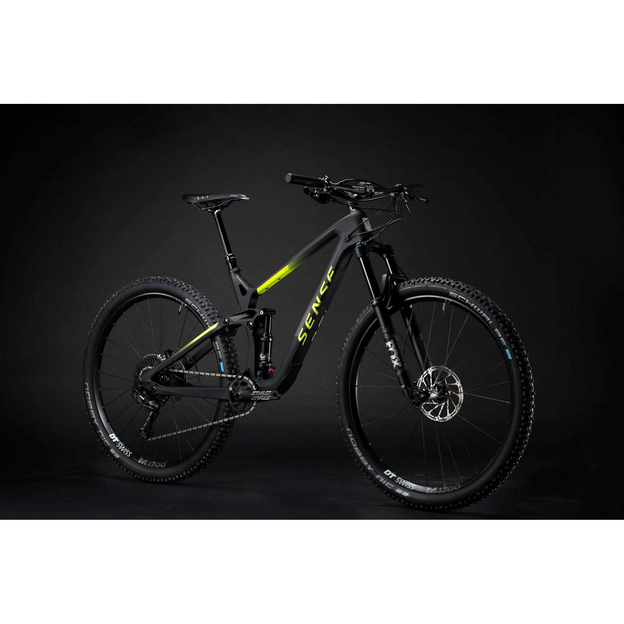 Bicicleta SENSE Exalt Evo 2020 - Preto/Amarelo Neon