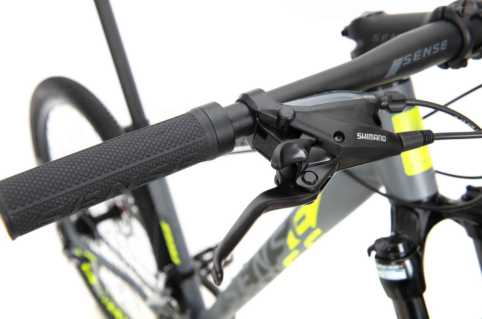 Bicicleta SENSE Fun 2020 - 24v Shimano Acera - Cinza/Amarelo