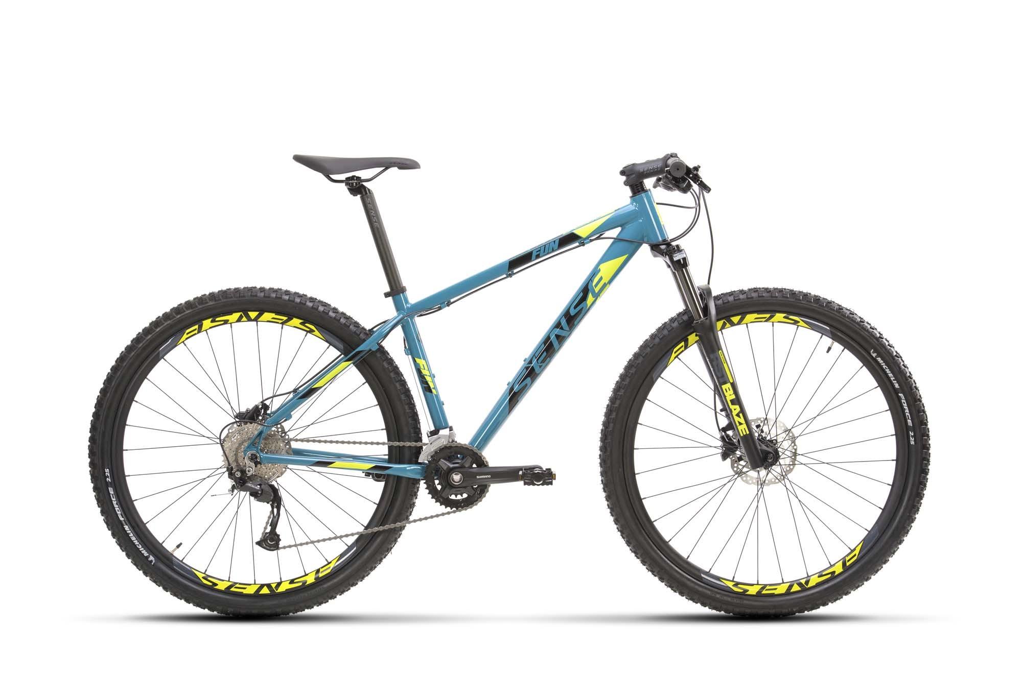 Bicicleta SENSE Fun Evo 2021 - 18v Shimano Alivio - Freio Hidráulico - Suspensão RST Blaze com trava no Ombro