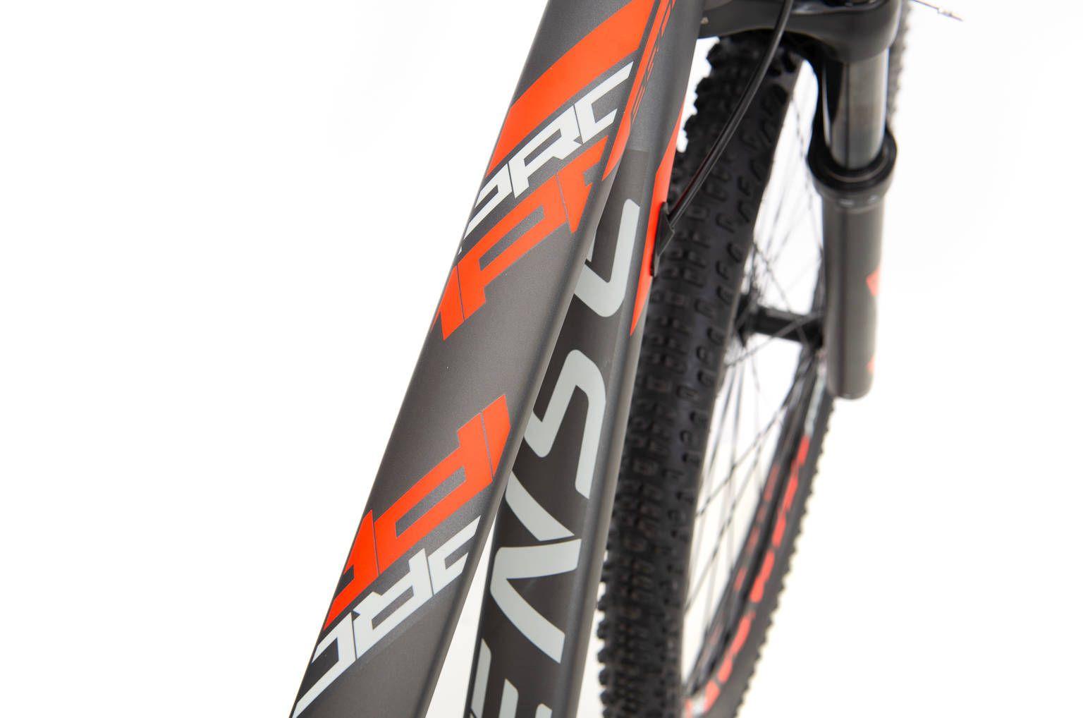 Bicicleta SENSE Impact Pro 2020 - 20v Shimano Deore - Vermelho Neon/Chumbo