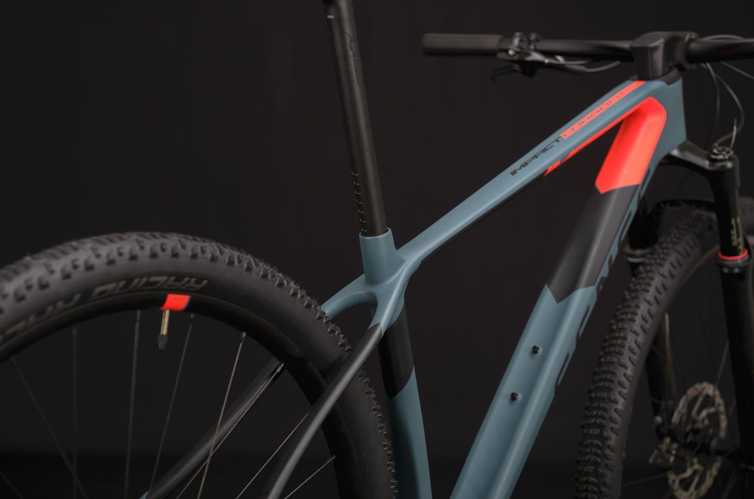 Bicicleta SENSE Impact Carbon Comp 2020 - Vermelho Neon/Chumbo