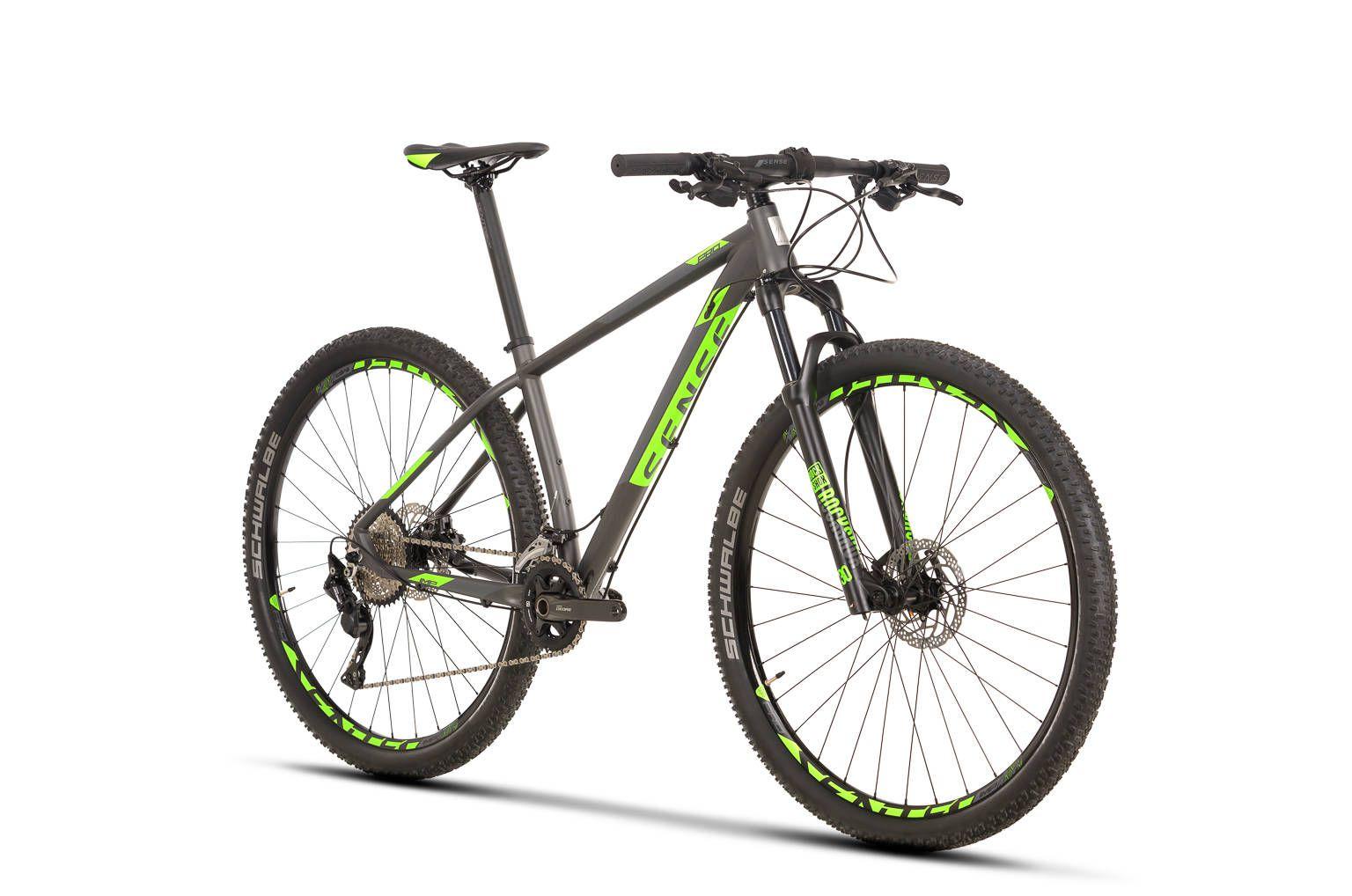 Bicicleta SENSE Impact Pro 2020 - 20v Shimano Deore - Verde Neon/Chumbo