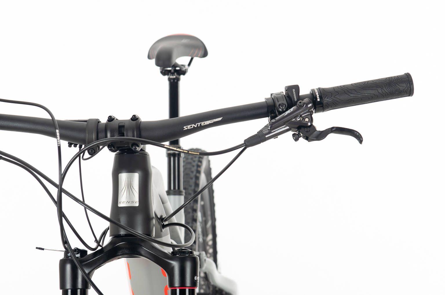Bicicleta SENSE Impulse E-Trail 2020 - 12v Shimano XT - Vermelho Neon/Chumbo