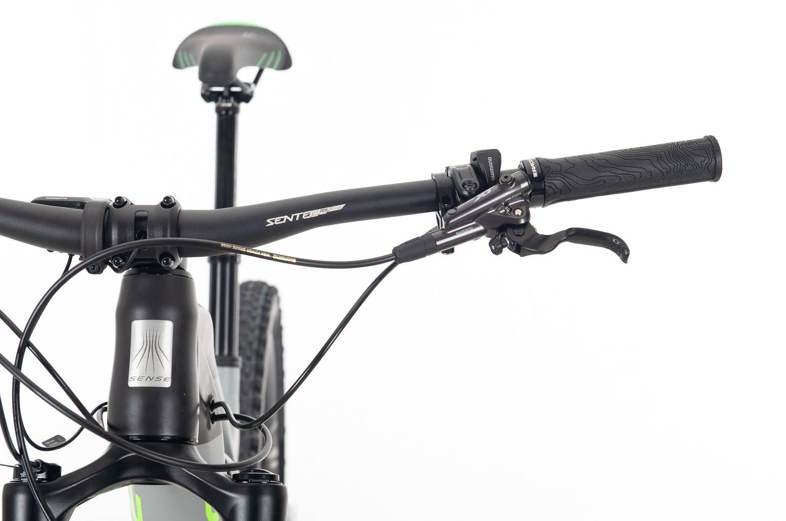 Bicicleta SENSE Impulse E-Trail 2020 - 12v Shimano XT -  Verde Neon/Chumbo