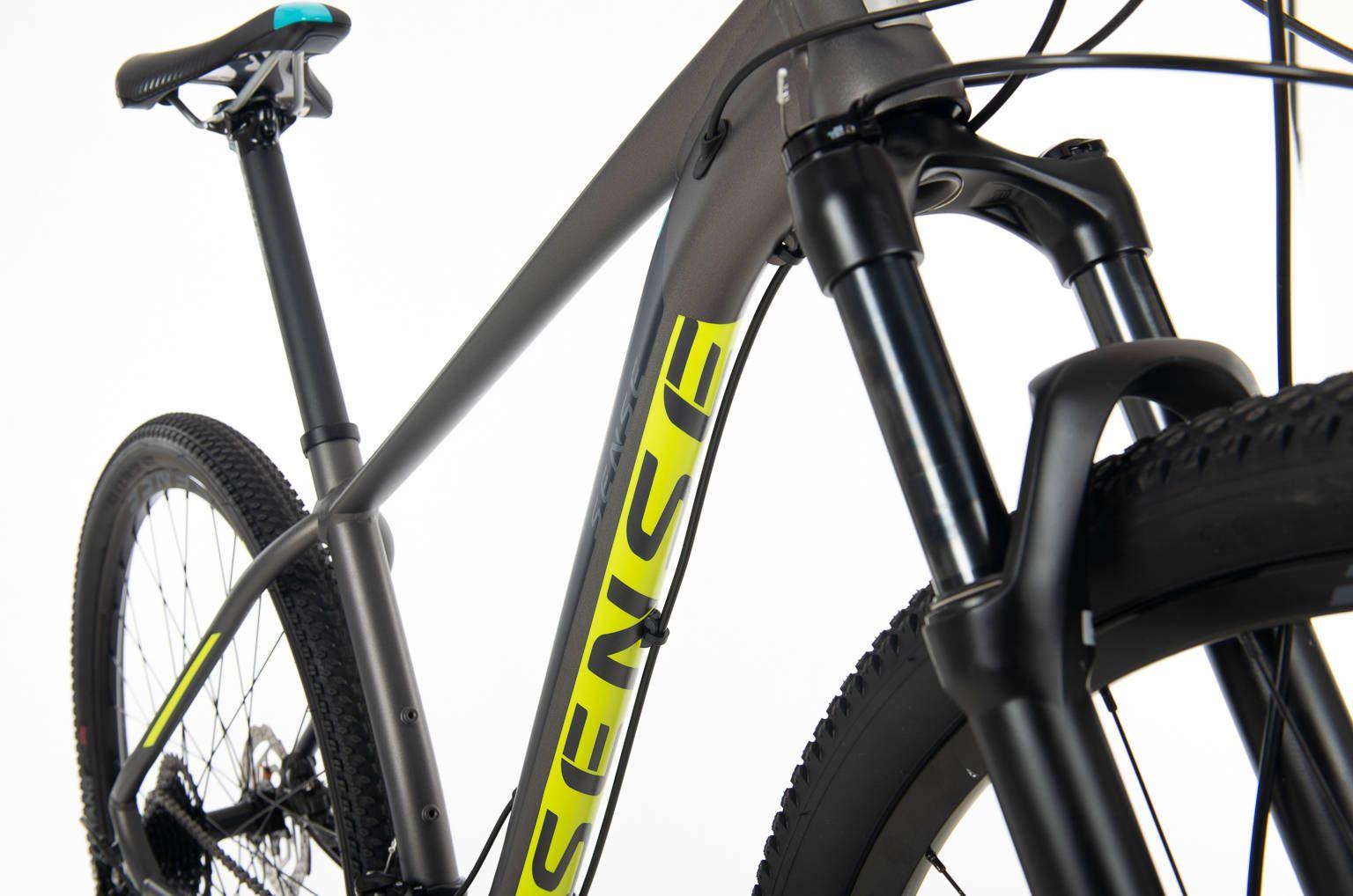 Bicicleta SENSE Intensa 2020 - 18v Shimano Alívio - EXCELENTE OPÇÃO - Cinza/Amarelo/Azul