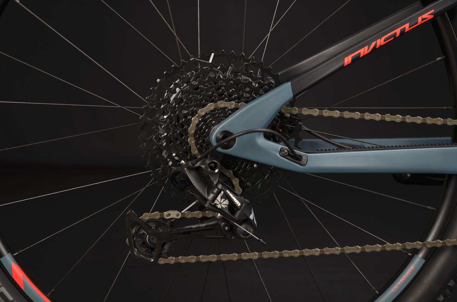 Bicicleta SENSE Invictus Comp 2020 - Vermelho Neon/Chumbo