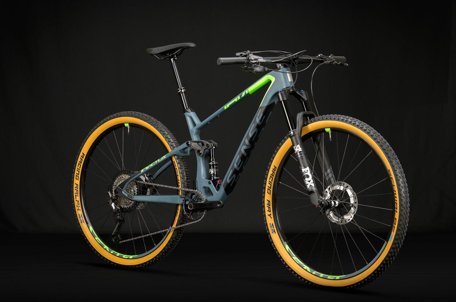 Bicicleta SENSE Invictus Evo 2020 - Verde Neon/Chumbo