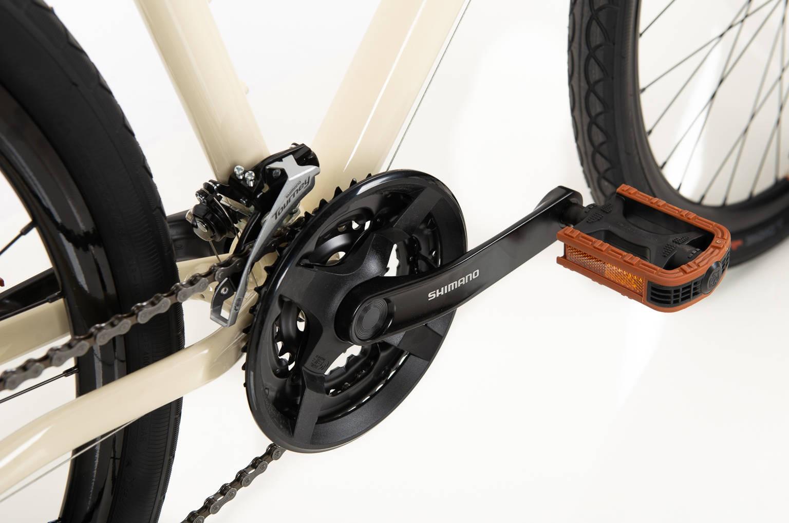 Bicicleta SENSE Move Urban 2020 - 21v Shimano Tourney - Creme/Laranja