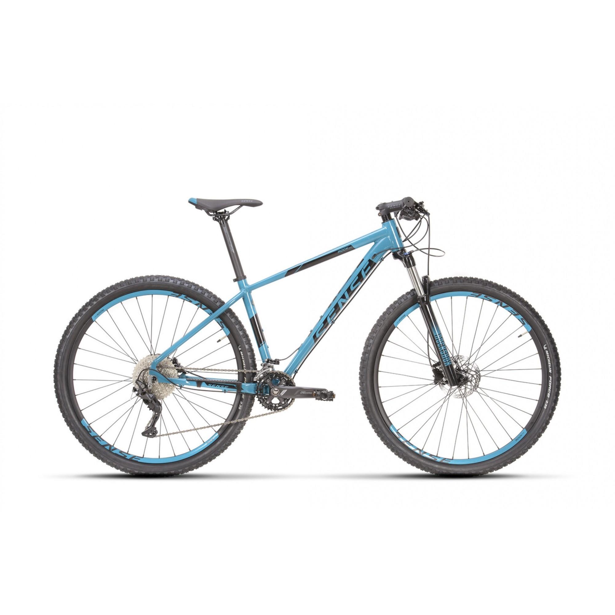 Bicicleta SENSE Rock Evo 2021 - 20v Shimano Deore - Suspensão RockShox Judy - Aqua/Preto