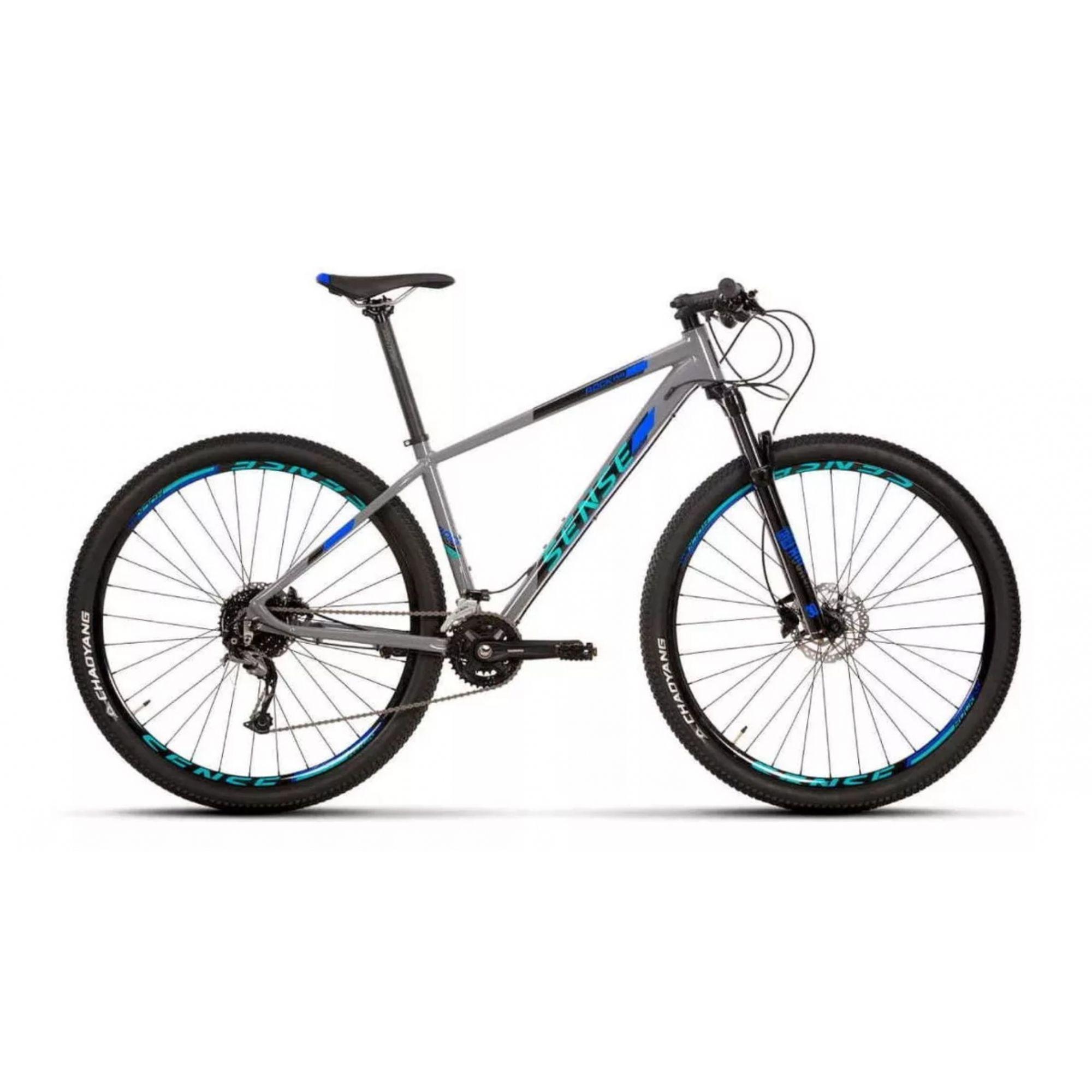 Bicicleta SENSE Rock Evo 2020 - 18v Shimano Alívio - Suspensão Rock Shox - Azul Acqua