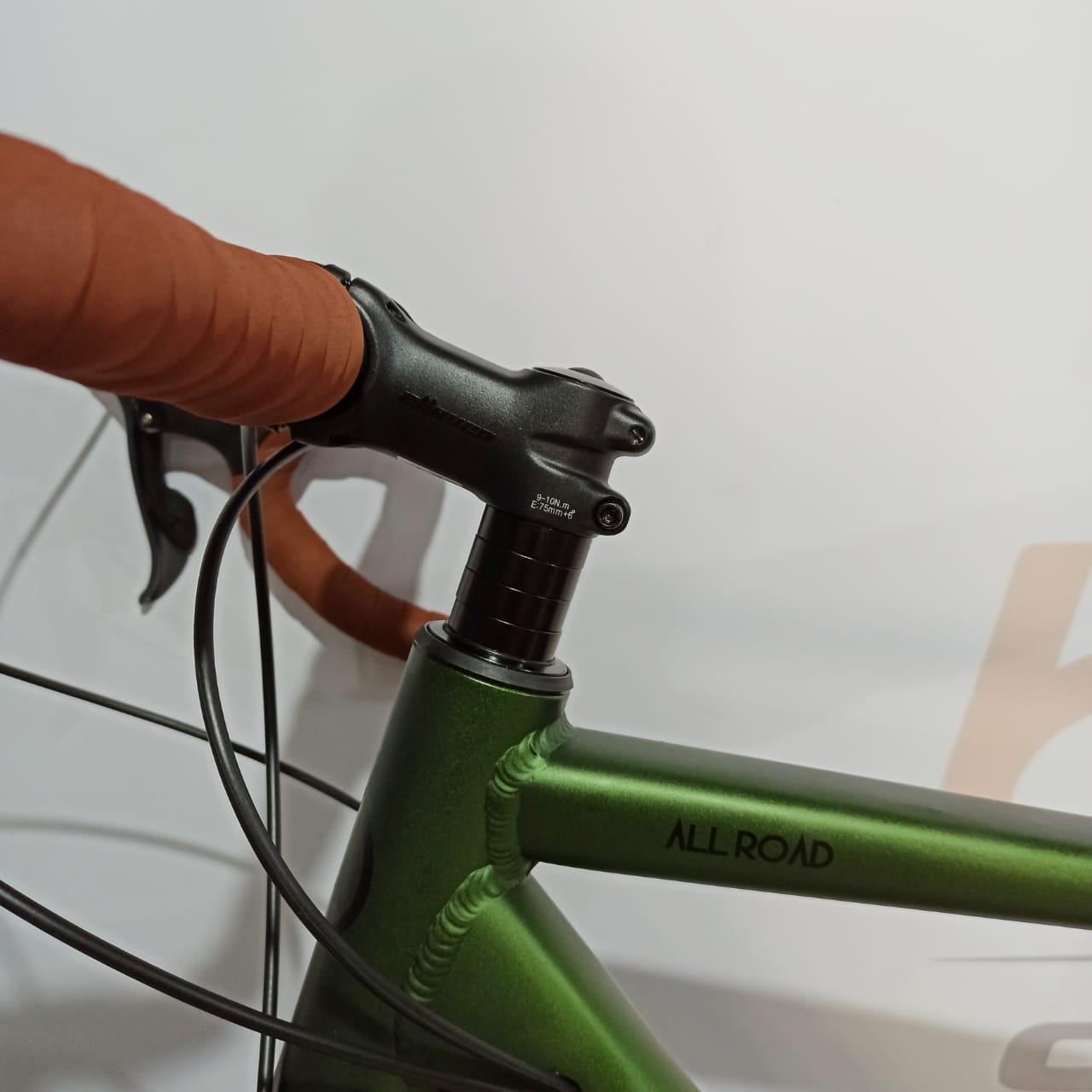 Bicicleta Speed ABSOLUTE All Road - 16v Shimano Claris - Rodas Strike com rolamento - Tam.52