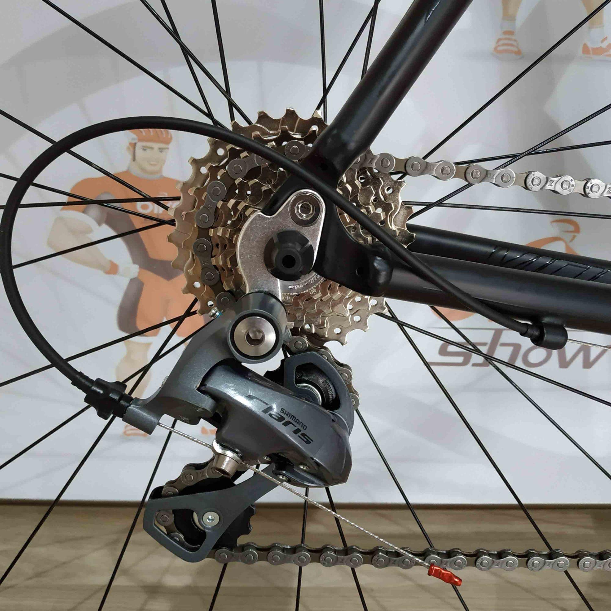 Bicicleta Speed VICINITECH Space II Pro - 16v Shimano Claris - Rodas Vicinitech com rolamentos - Tam.55