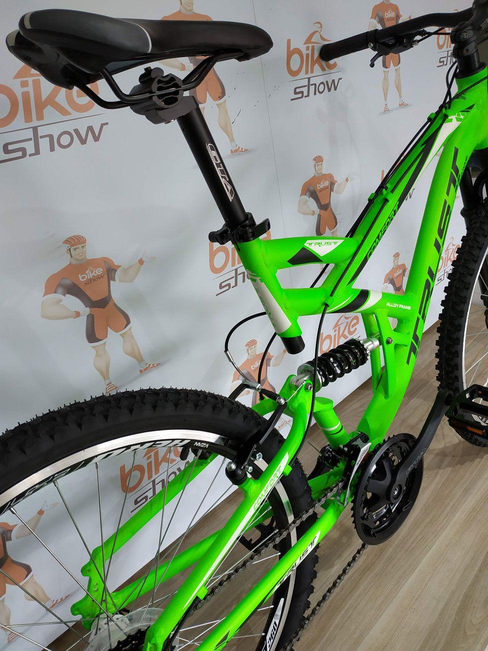 Bicicleta TRUST aro 26 Full Confort - 21V Sunrace - Freio V-Brake