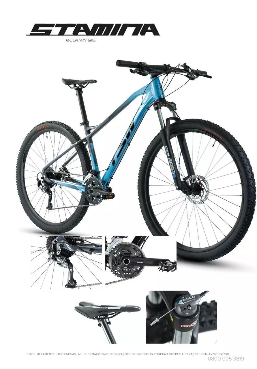 Bicicleta TSW Stamina aro 29 2020 - 27v Shimano Alívio - Freio Shimano Hidráulico - Azul/cz/pto + BRINDES