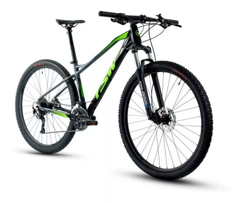 Bicicleta TSW Stamina aro 29 2020 - 27v Shimano Alívio - Freio Shimano Hidráulico - Pto/Cinza/verde + BRINDES