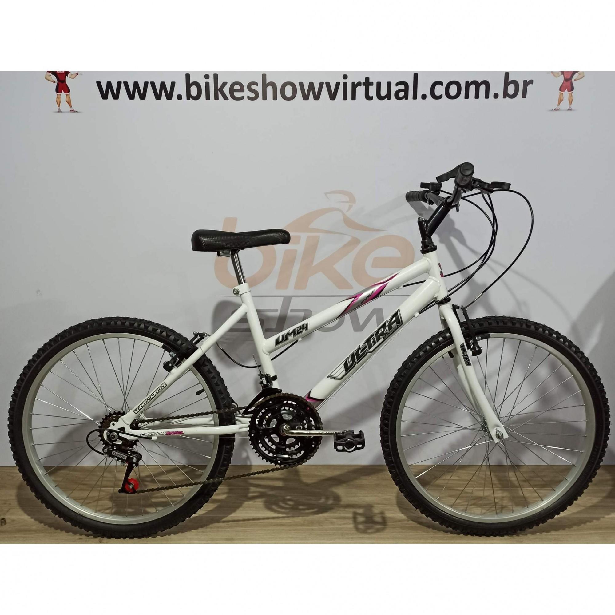 Bicicleta ULTRA BIKES aro 24 - 18v Yamada - Quadro Feminino