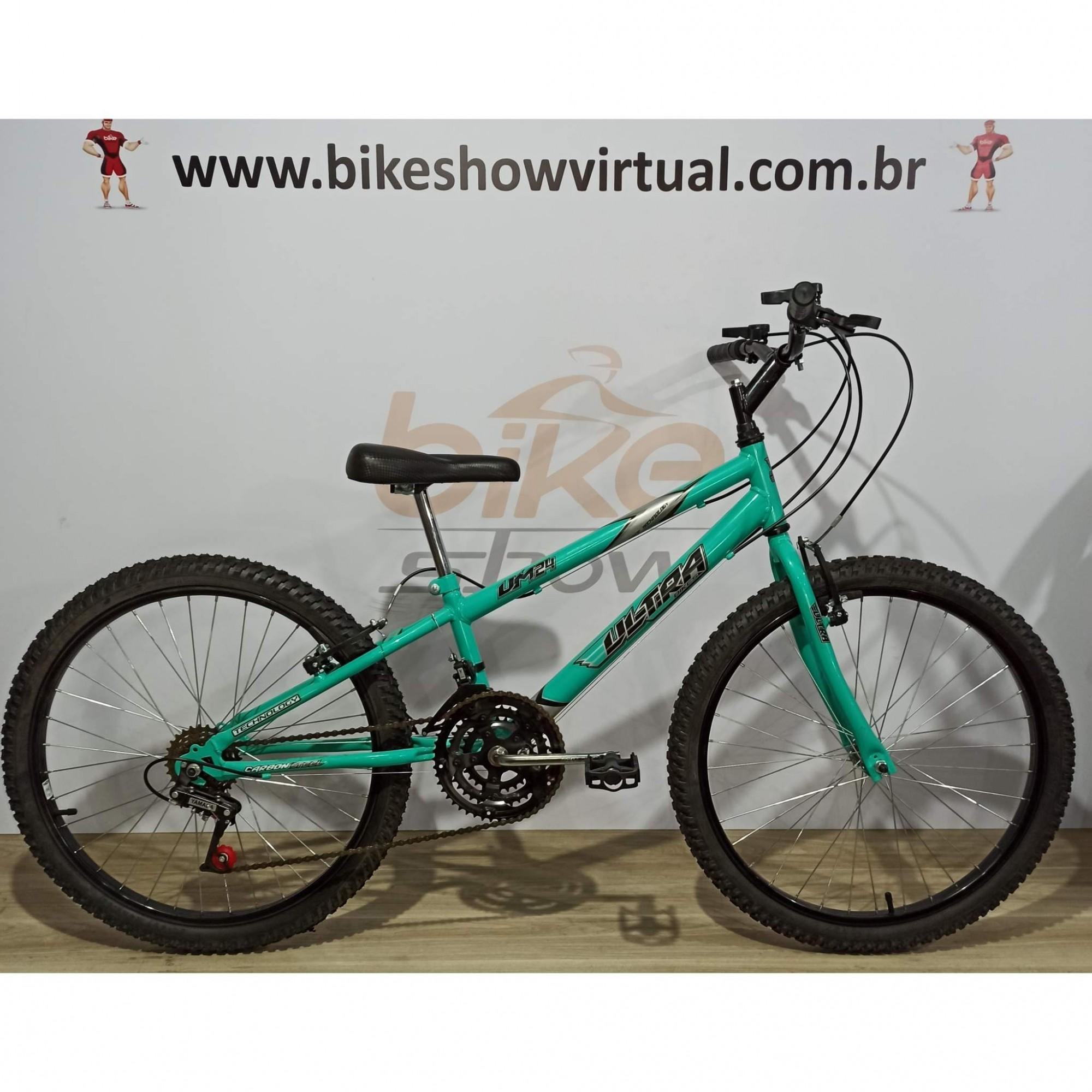 Bicicleta ULTRA BIKES aro 24 - 18v Yamada - Quadro Rebaixado