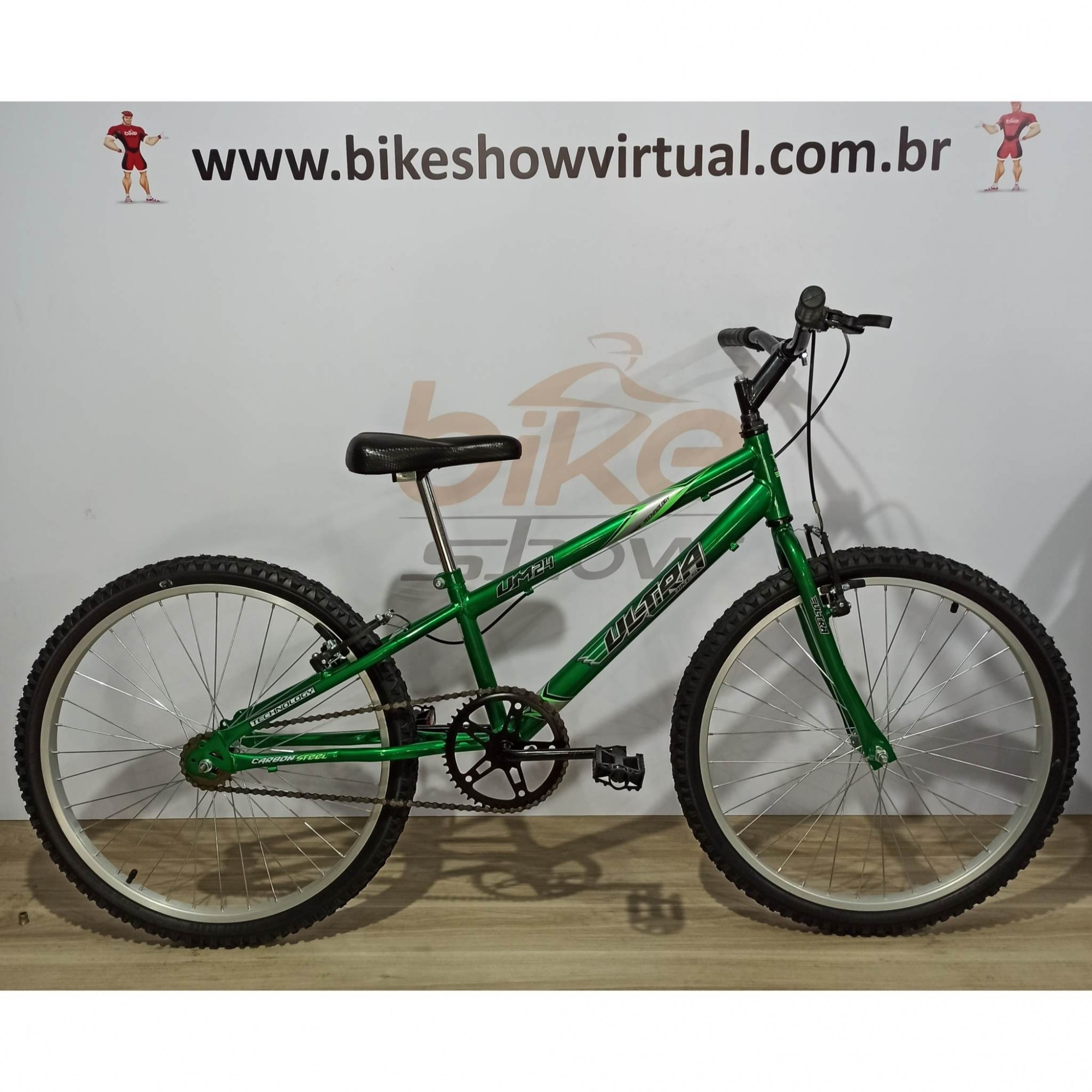 Bicicleta ULTRA BIKES aro 24 - Quadro Rebaixado - Sem Marcha