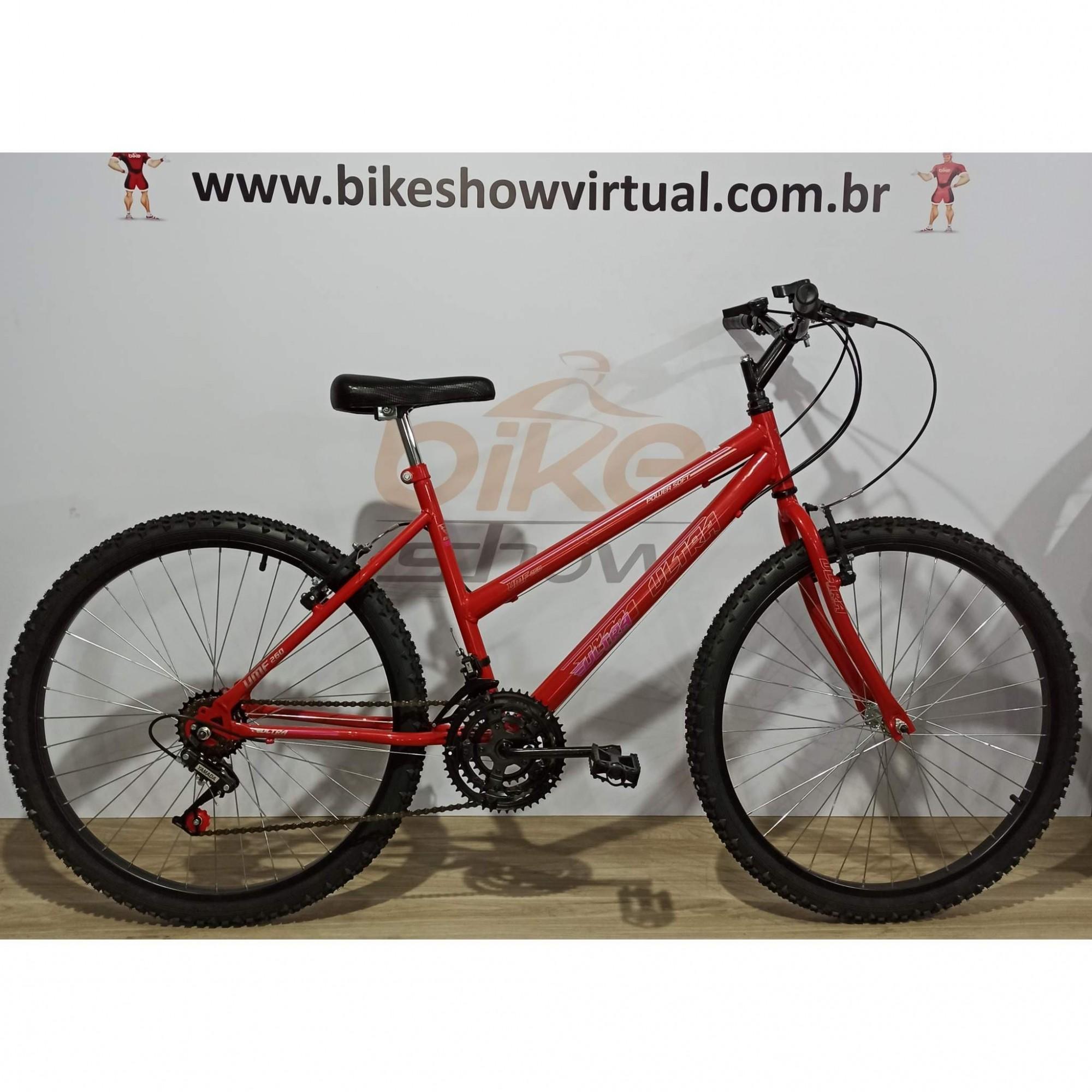 Bicicleta ULTRA BIKES aro 26 - 18v Yamada - Quadro Feminino