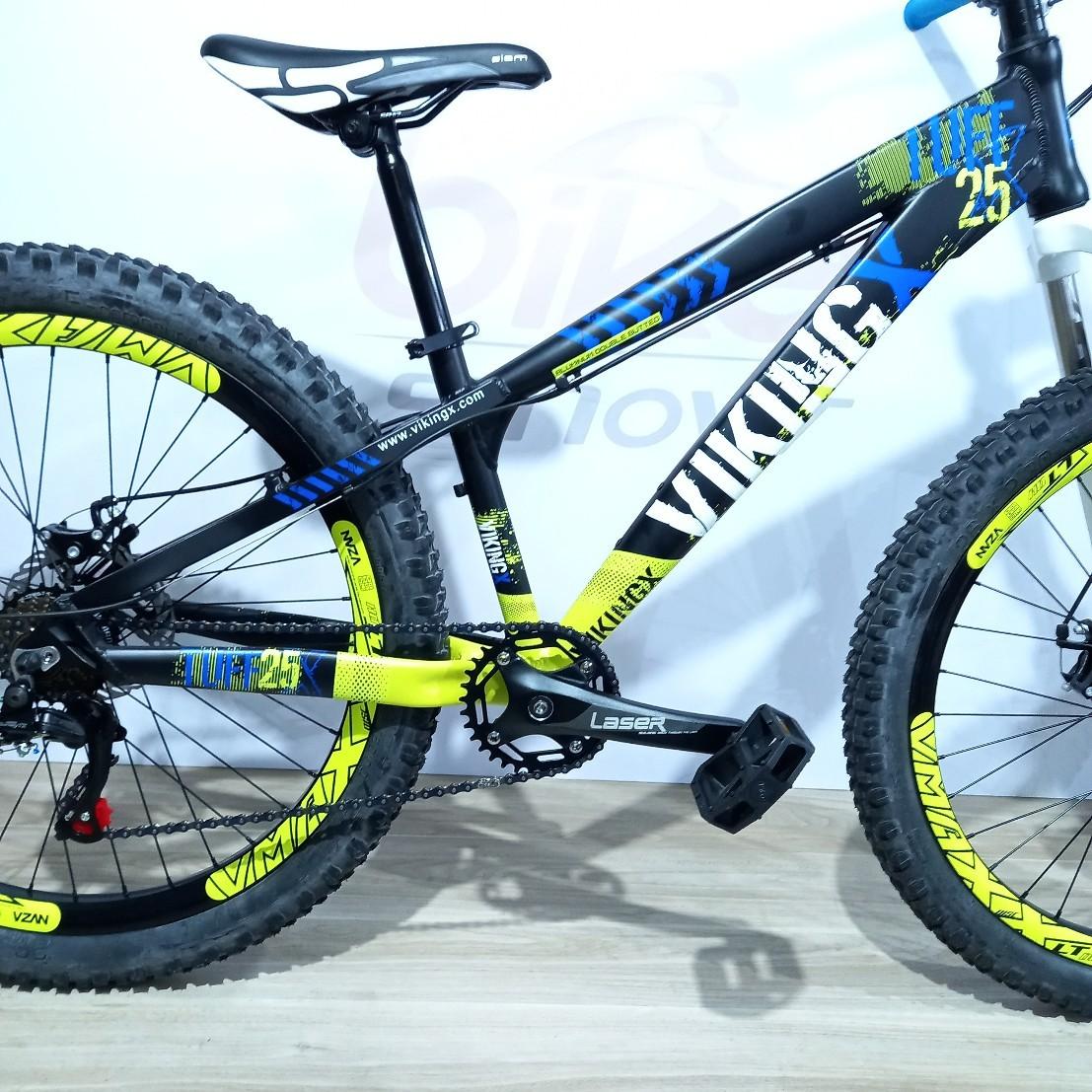 Bicicleta VIKING Tuff X-25 aro 26 - 7v Shimano Tourney - Freio a Disco Veloforce - Suspensão Voox toda em alumínio