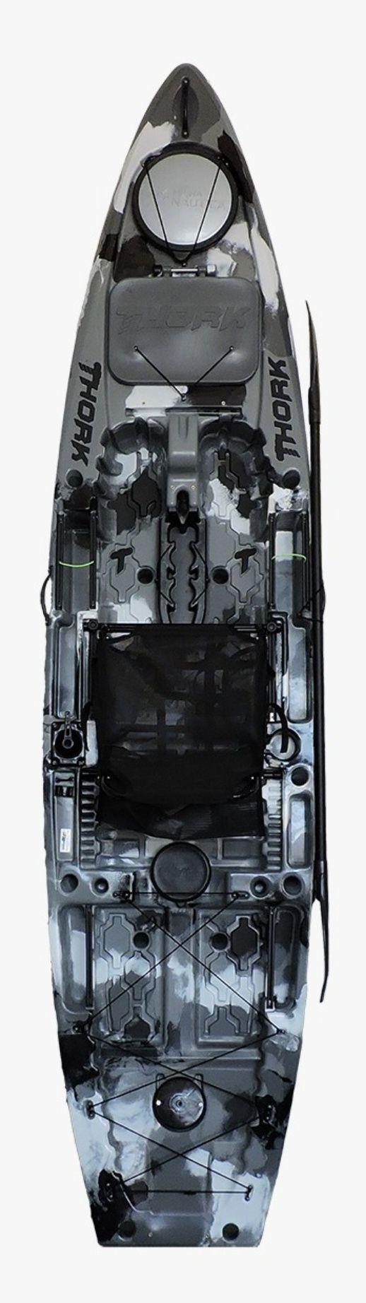 Caiaque MILHA NÁUTICA THORK com leme - Opção para PEDAL Power Drive System