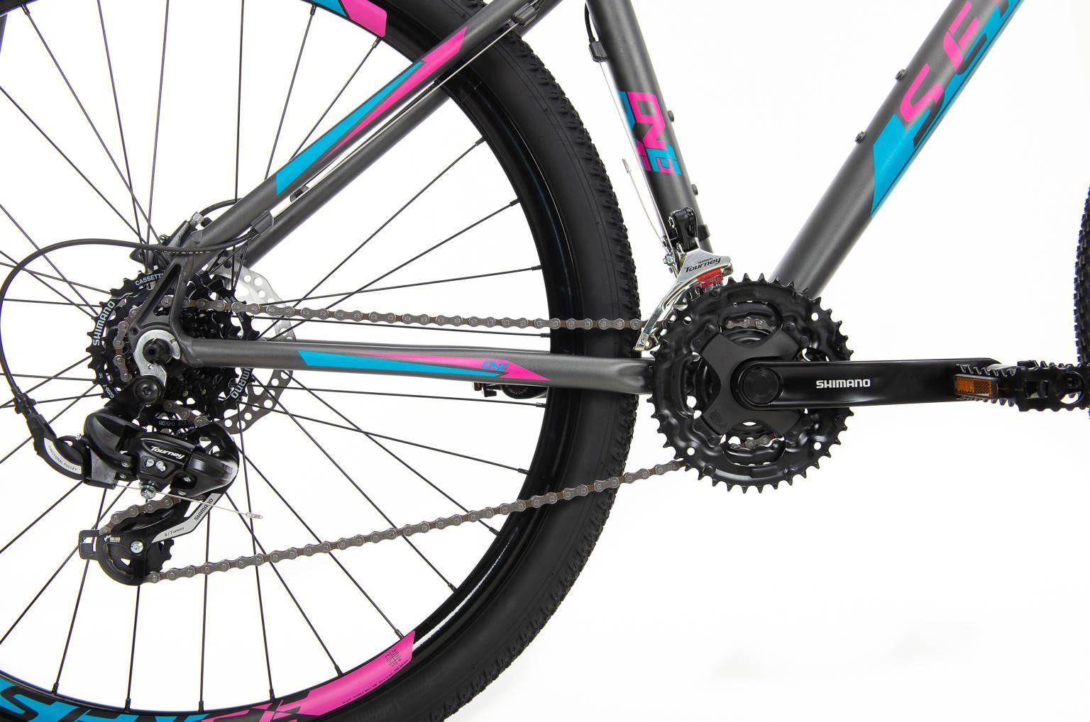 Bicicleta SENSE One 2020 - Cinza/Rosa/Azul