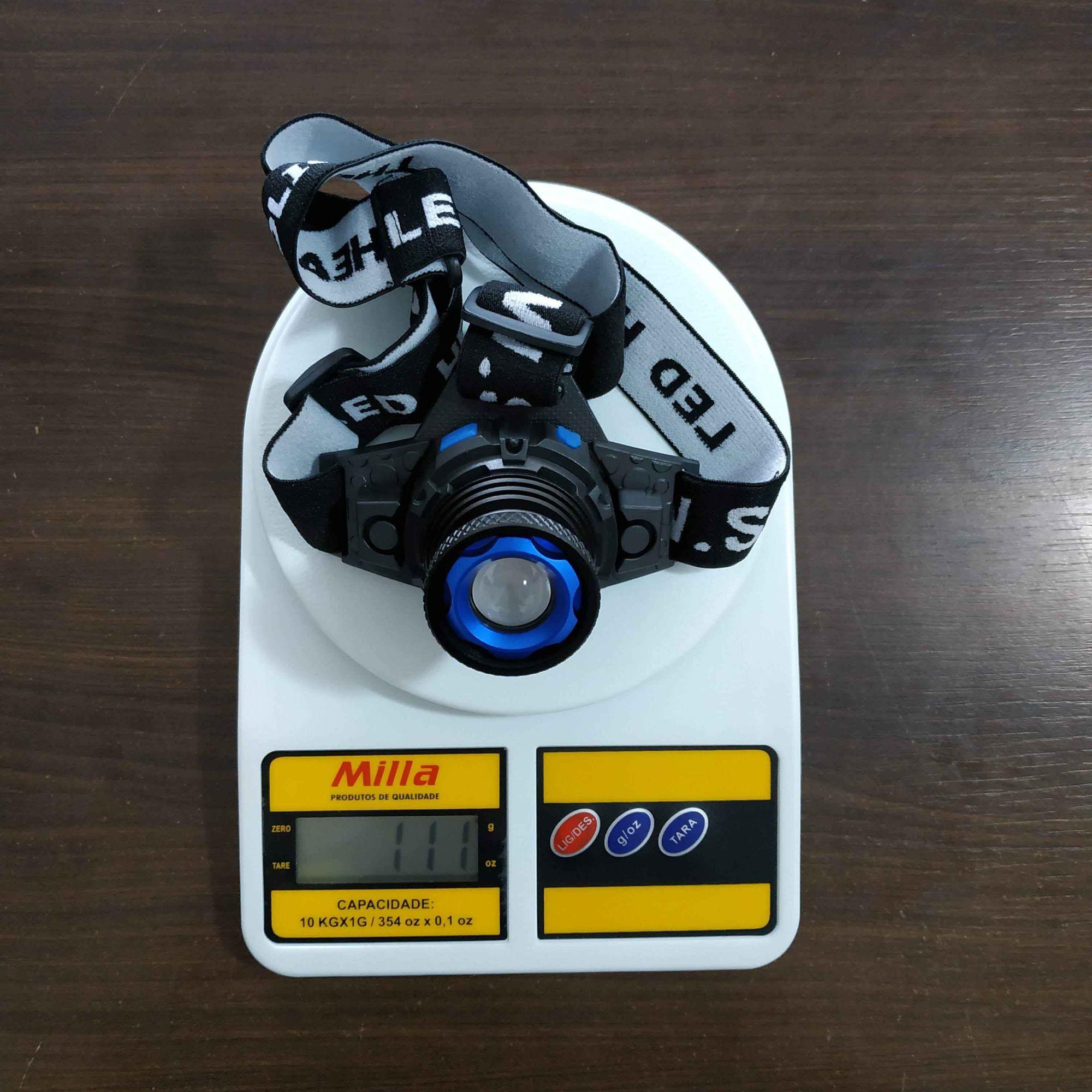 Farol Cabeça JWS WS-120 Q5 LED Super Forte Recarregável