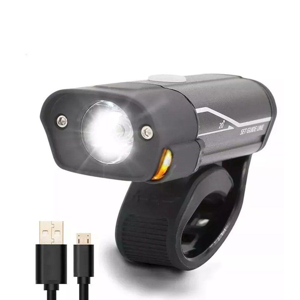 Farol JWS WS-263 Com LED Luzes de Advertência Recarregável USB