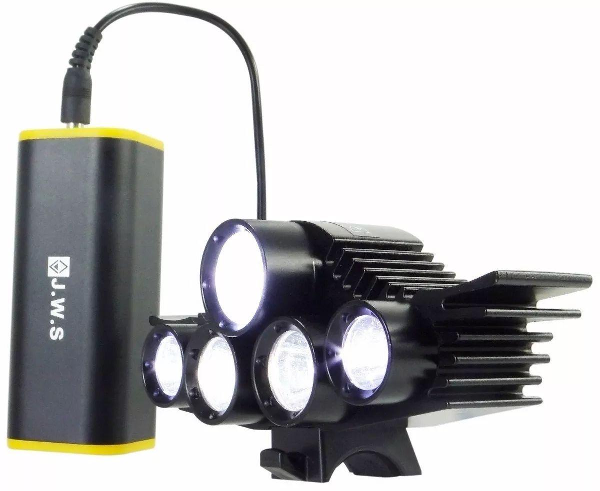 Farol JWS Ws 926 - 5 Led - Bateria Recarregável