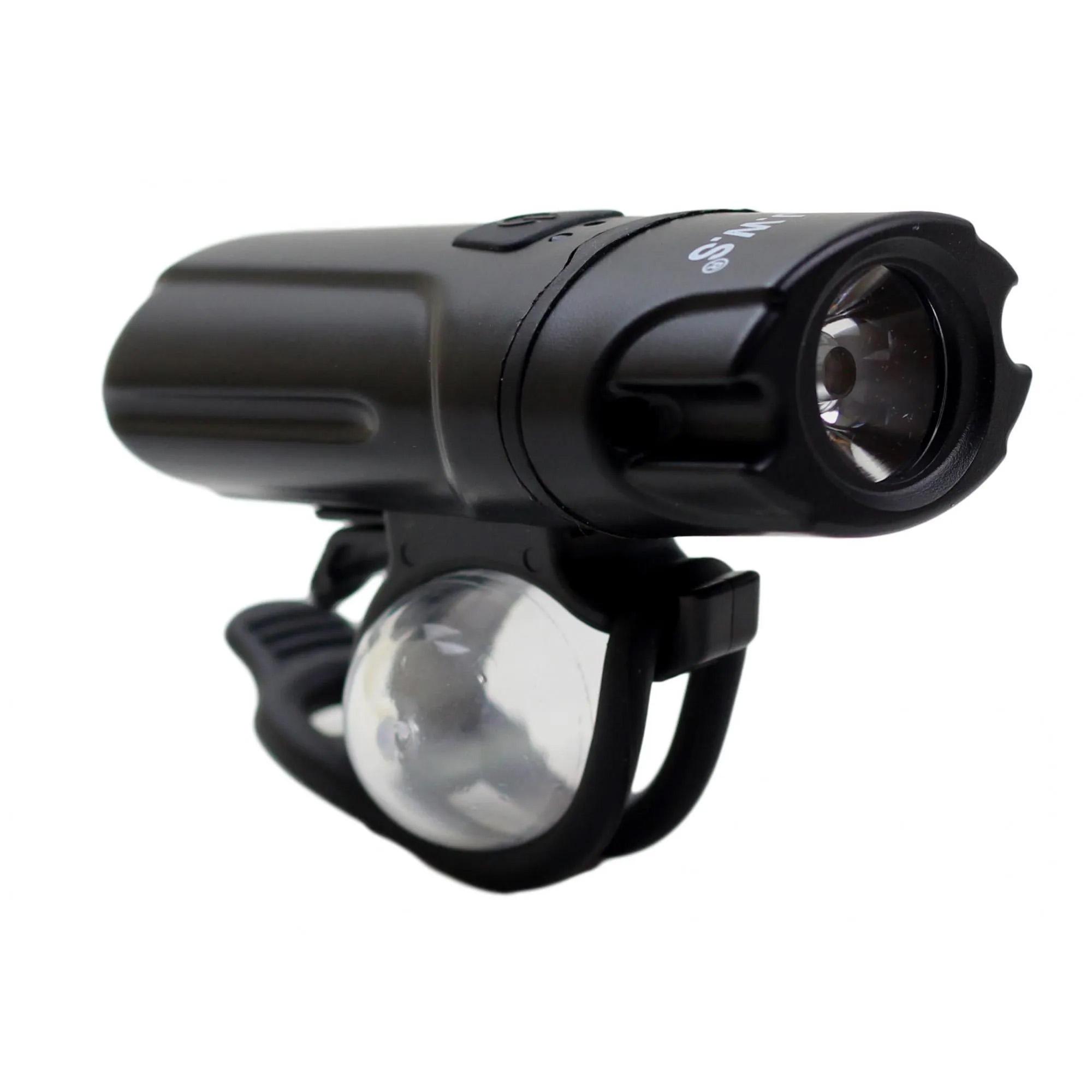 Farol Super LED JWS WS-8209 Para Bicicleta À Prova d'agua Recarregável USB Mini