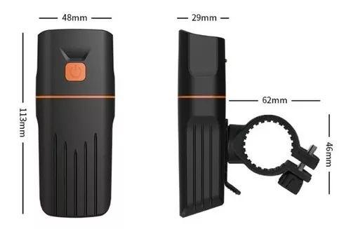 Farol TK3 JWS WS-151 Com 3 Modos de Luz Ultra Forte USB