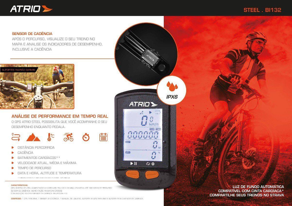 Gps ATRIO Steel Ciclismo Bike C/ Sensor Cadência Bluetooth