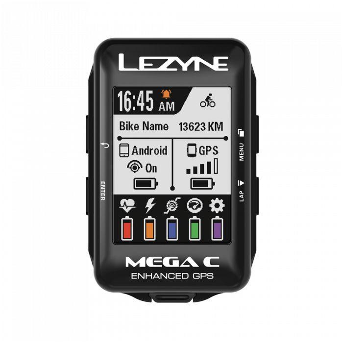 GPS LEZYNE MEGA C GPS Ciclocomputador Preto com Visor Colorido