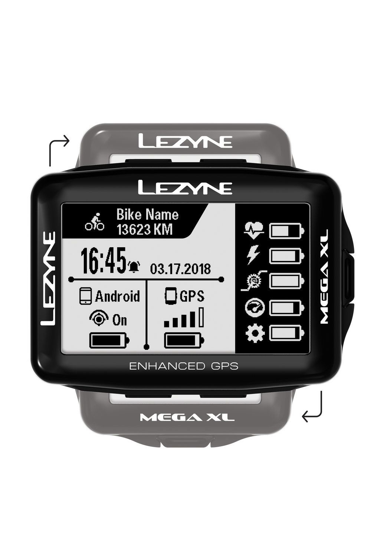 GPS LEZYNE MEGA XL Ciclocomputador Preto