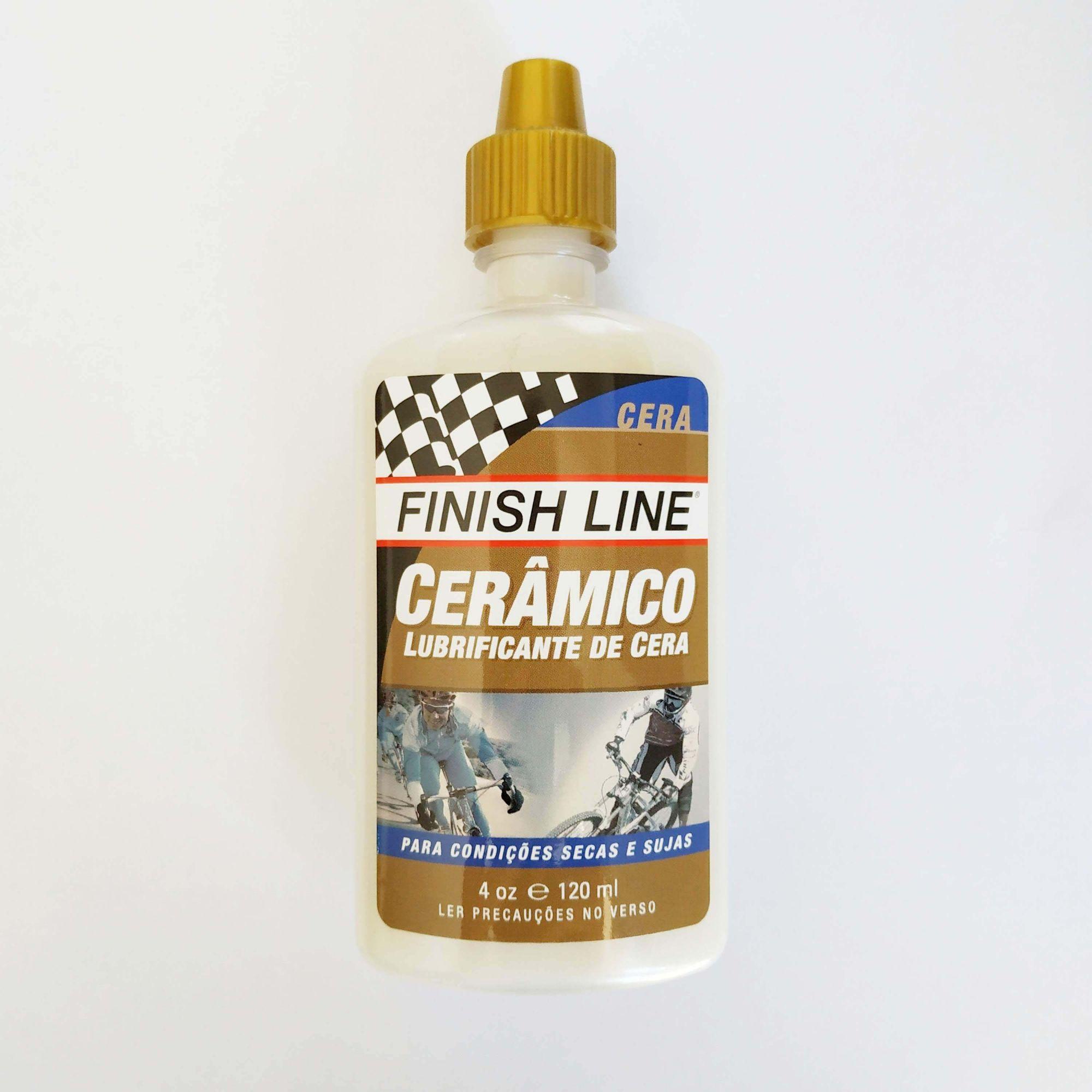 Lubrificante FINISH LINE Cerâmico 120ml (Lubrificante de Cera) - O melhor para regiões muito secas
