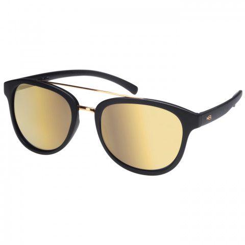 Óculos de Sol HB Moomba Gold Chrome -  Preto Fosco - Espelhado