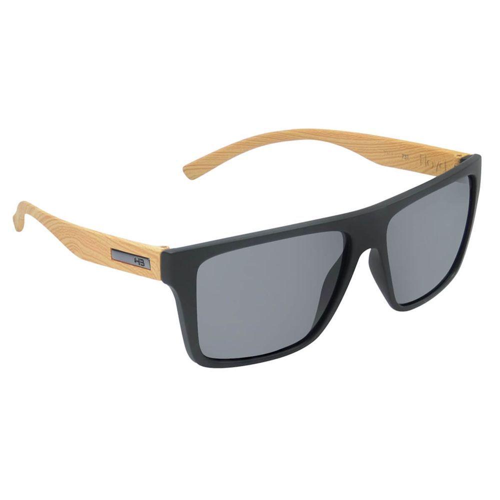 Óculos HB Floyd Matte Black/Wood Gray - Preto