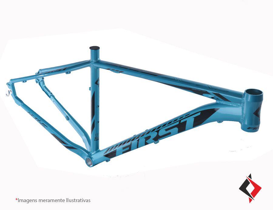 Quadro MTB FIRST Active Tapered aro 29 Alumínio - Azul Brilho