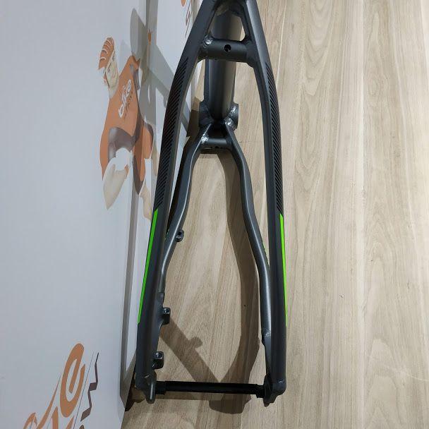Quadro MTB GTA Insane aro 29 Alumínio - Grafite/Verde Neon