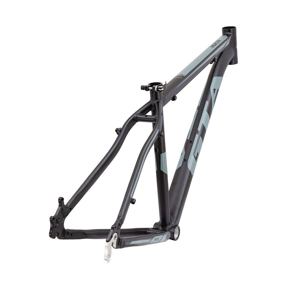 Quadro MTB GTA NX11 aro 29  Alumínio - Preto/Cinza