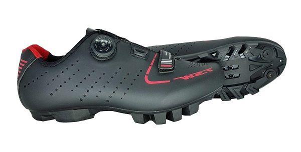 Sapatilha Ciclismo MTB TSW Smart Disc com velcro Preto/Vermelho