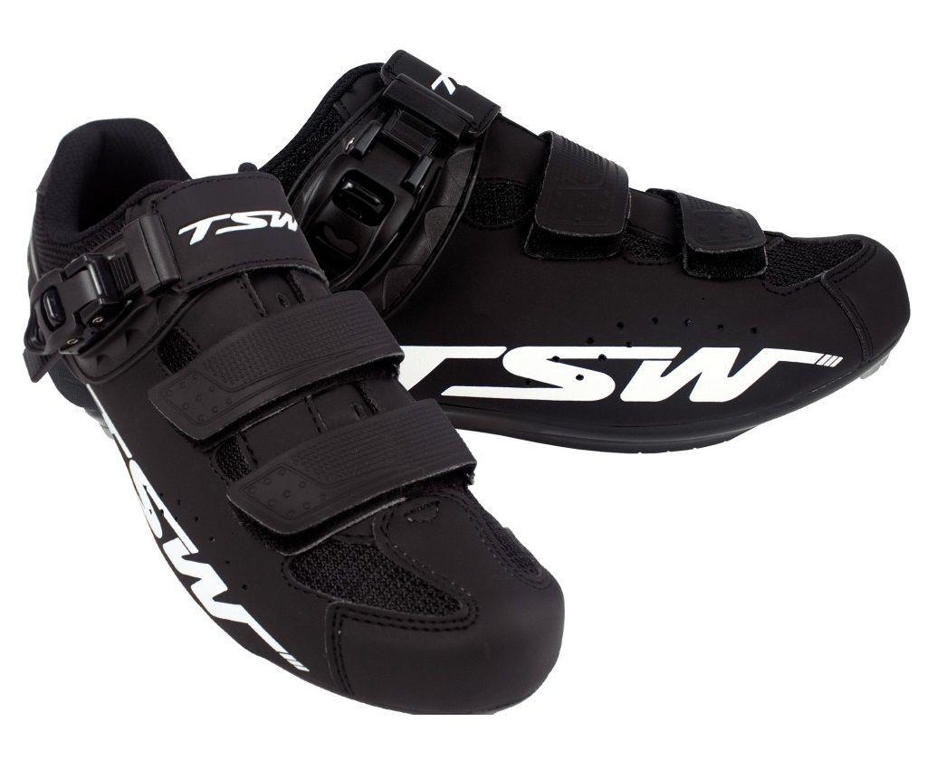 Sapatilha Ciclismo Speed TSW Rocket - Preto/Branco