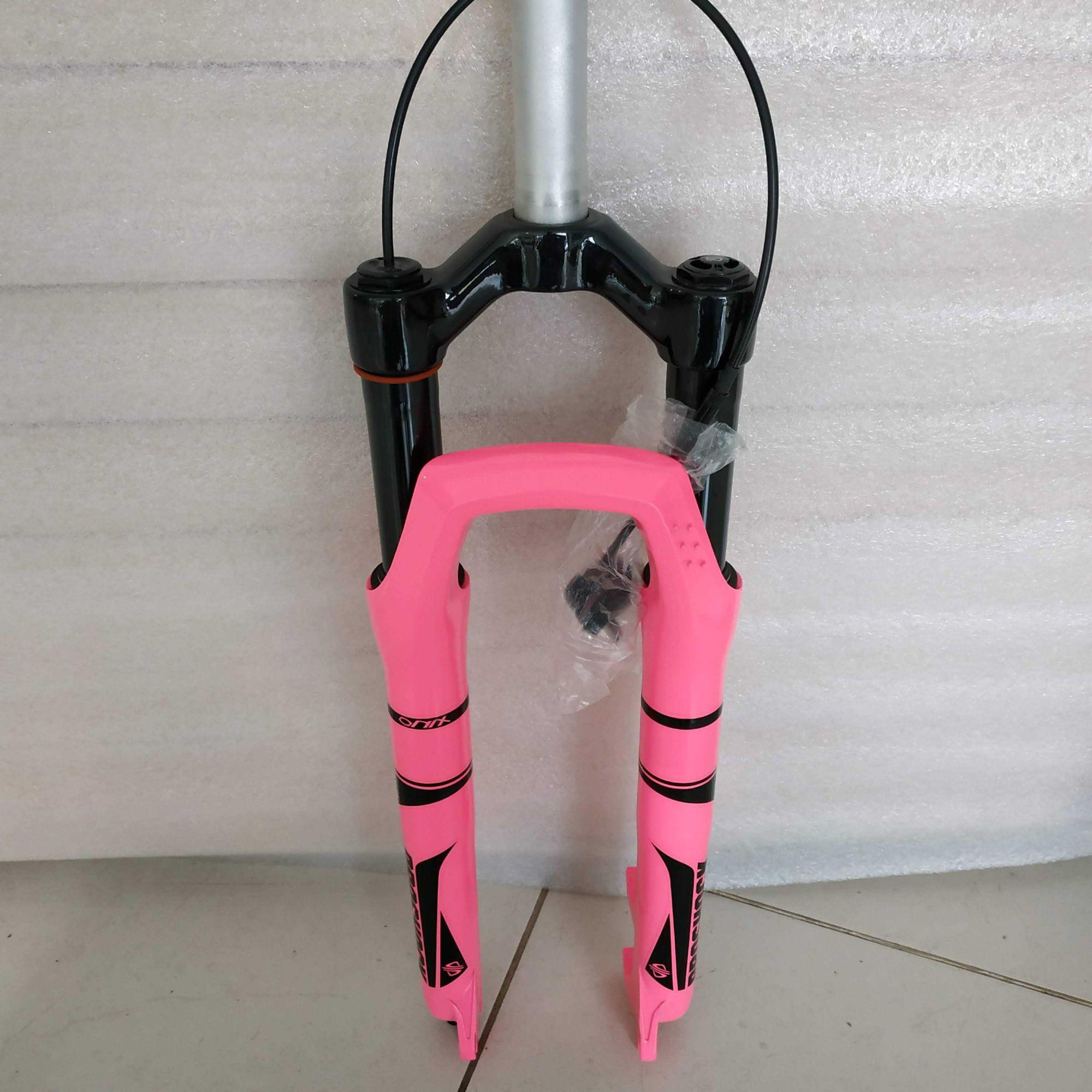 Suspensão 29 PROSHOCK Ônix Over 100mm cor Rosa com Trava no Guidão
