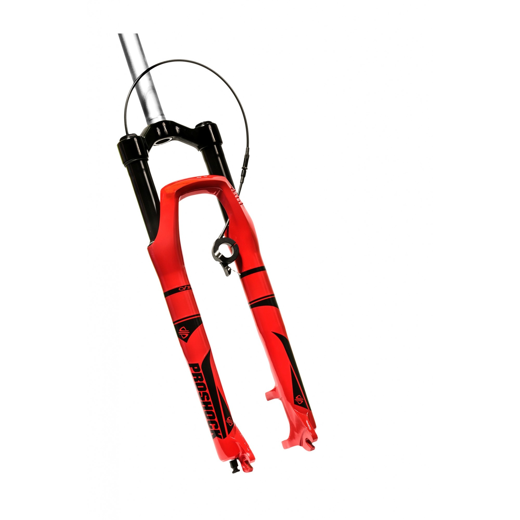 Suspensão 29 PROSHOCK Ônix Over 100mm de Curso cor Vermelho com Trava no Guidão