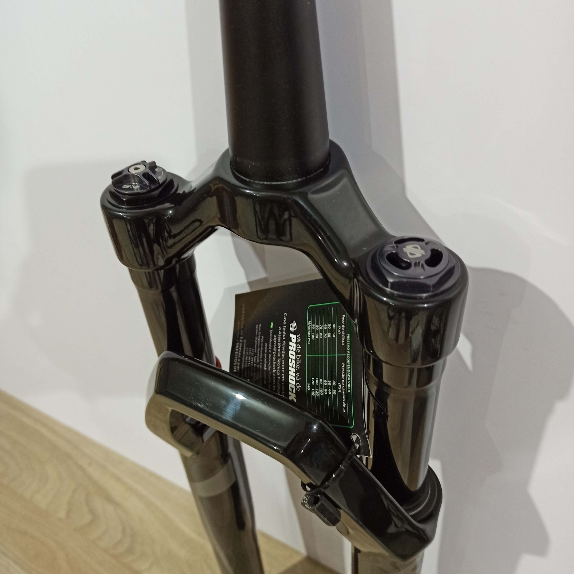 Suspensão 29 PROSHOCK Viber Spider 2021 Tapered Eixo de 9 mm Cor Preto