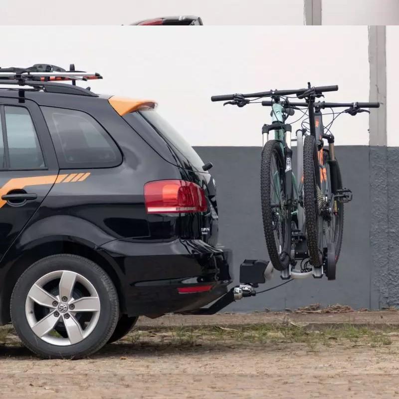 Transbike TSW Force traseiro para engate de reboque 2 Bikes Reclinável