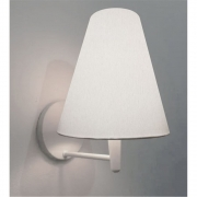 Arandela Cone Md-2007 Base Branco Cúpula em Tecido 20/08x18cm Branco - Bivolt